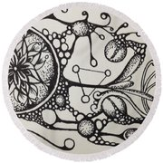 Abstract Drawing Round Beach Towel