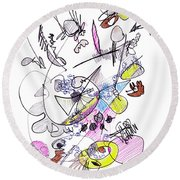 Abstract Drawing Seventy-two Round Beach Towel