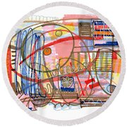 Abstract Drawing Sixty-eight Round Beach Towel