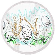 Abstract Drawing Sixty-one Round Beach Towel