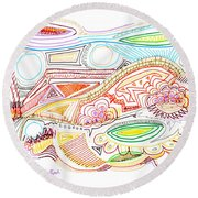 Abstract Drawing Sixty-two Round Beach Towel