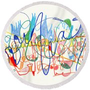 Abstract Drawing Two Round Beach Towel