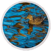 Abstract Duck Round Beach Towel