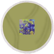 Abstract Duo Round Beach Towel