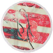 Abstract Dynamite Charge Round Beach Towel