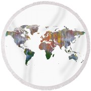 Abstract Earth Art Round Beach Towel