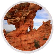 Abstract Erosion Round Beach Towel