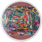 Abstract Expressionism Bvdschueren Round Beach Towel