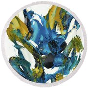 Abstract Expressionism Painting Series 715.102710 Round Beach Towel