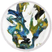 Abstract Expressionism Painting Series 716.102710 Round Beach Towel