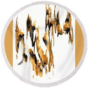 Abstract Expressionism Painting Series 734.102910 Round Beach Towel