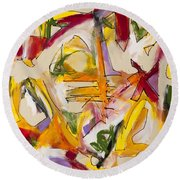 Abstract Expressionism Two Round Beach Towel