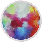 Abstract Expressions Round Beach Towel
