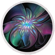 Abstract Fantasy Round Beach Towel