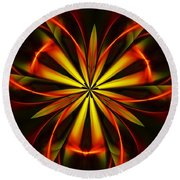 Abstract Floral 032811 Round Beach Towel
