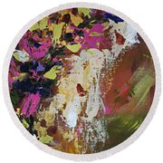 Abstract Floral Study Round Beach Towel