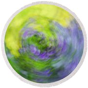 Abstract Flower-bed Round Beach Towel