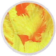 Abstract Flower Round Beach Towel