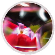 Abstract Flowers Part Two Round Beach Towel