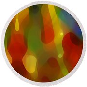 Abstract Flowing Light Round Beach Towel by Amy Vangsgard