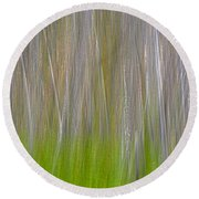 Abstract Forest 2 Round Beach Towel