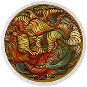 Abstract Forest Ball Round Beach Towel