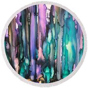 Seeing The Forest Through The Trees Round Beach Towel