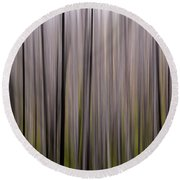 Abstract Forest Round Beach Towel
