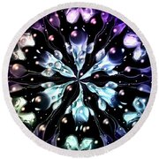Abstract Fractal 623162 Round Beach Towel