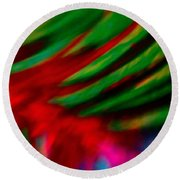 Abstract Frolic Round Beach Towel