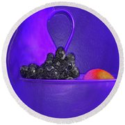 Abstract Fruit Art 53 Round Beach Towel