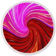 Abstract Fusion 266 Round Beach Towel