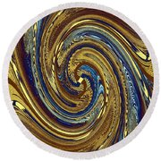 Abstract Fusion 272 Round Beach Towel