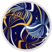 Abstract Fusion 279 Round Beach Towel