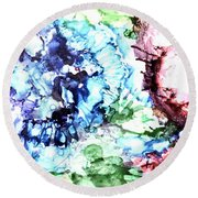 Abstract Garden Round Beach Towel