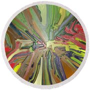 Abstract Garden Wrapped Round Beach Towel