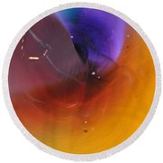 Abstract Glass 56 Round Beach Towel