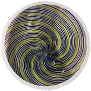 Abstract Glass 6 Round Beach Towel