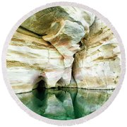 Abstract Gorge Round Beach Towel