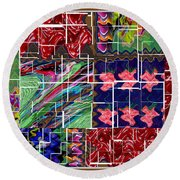 Abstract Graphic Art By Navinjoshi At Fineartamerica.com Elegant Interior Decoractions Print On Thro Round Beach Towel