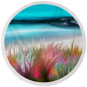 Abstract Grass Series 17 Round Beach Towel