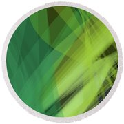 Abstract Green Vector Background Banner, Transparent Wave Lines  Round Beach Towel