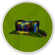 Abstract Hat For All Round Beach Towel