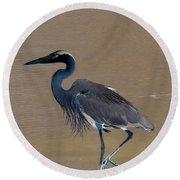 Abstract Heron Art Round Beach Towel