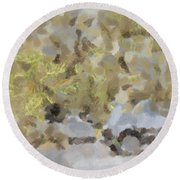 Abstract Image Of Car Passing Through A Dust Storm Round Beach Towel