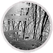 Abstract In Ice Round Beach Towel