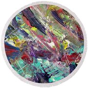 Abstract Jungle 7 Round Beach Towel