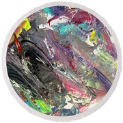 Abstract Jungle 9 Round Beach Towel