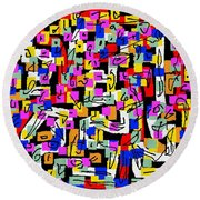 Abstract Laberinto 2 Round Beach Towel