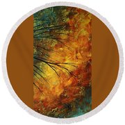 Abstract Landscape Art Passing Beauty 5 Of 5 Round Beach Towel